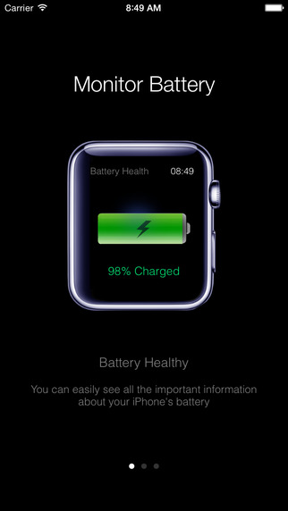 Battery Health - Monitor Battery Stats and Usage Glance at Battery Life for iPhone