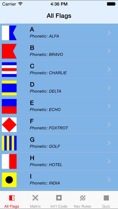 Signal Flags iPhone Screenshot 1