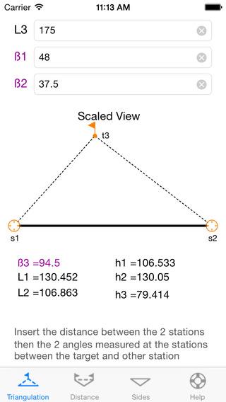 Triangle Utility iPhone Screenshot 2