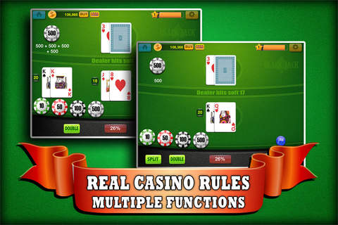 Blackjack 21 Blitz - Play Online Casino and Gambling Card Game for FREE ! screenshot 4