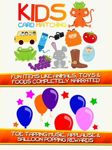 Kids Card Matching Educational Color and Shapes Early Learning Game for Toddlers Screenshots