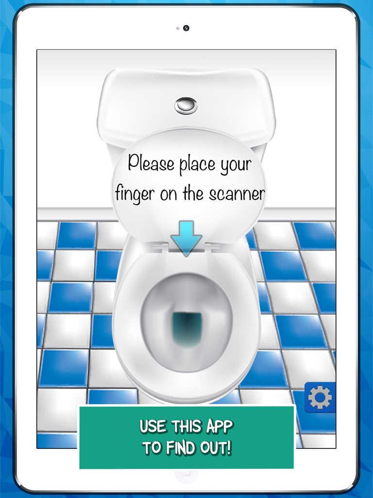 App shopper the poo calculator a funny finger scanner for Best bathroom finder app