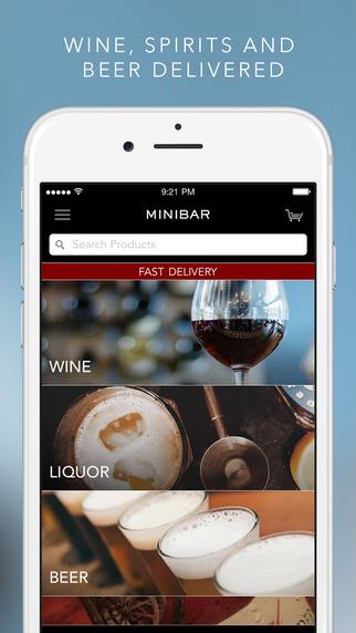Minibar Delivery - Wine Liquor Beer On-Demand