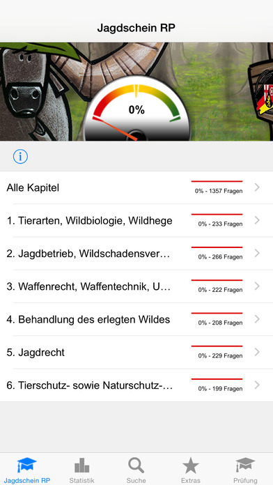 Jagdschein Rheinland-Pfalz iPhone Screenshot 1
