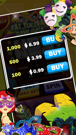 Fat Tuesday Super Slots iPhone Screenshot 3