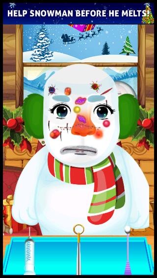 A Christmas Doctor Salon Makeover - my little xmas spa baby santa make up games for kids