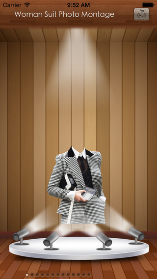 Woman Suit Photo Montage: Woman fashion Booth
