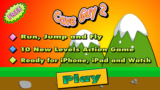 Cave Guy 2 - Arcade and Action Game Challenge