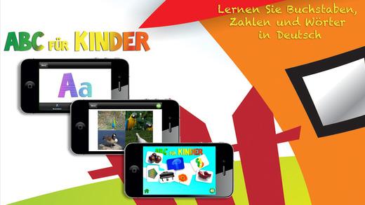 ABC Für Kinder: Deutsch Lernen - Buchstaben Zahlen und Wörter mit Tieren Formen Farben Obst und Gemü