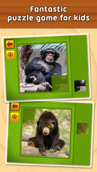 Jungle and Rainforest Animals: puzzle game for little girls boys and preschool kids - Free