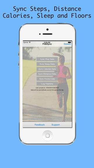 HealthSync sync Fitbit to HealthKit