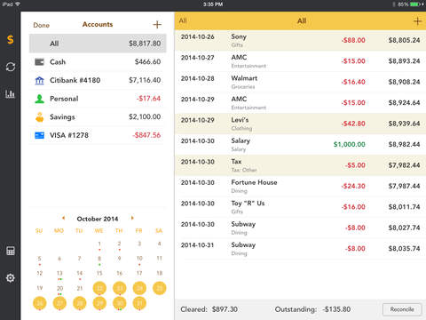 Checkbook Pro - Spending, Income, Cashflow and Account Tracker