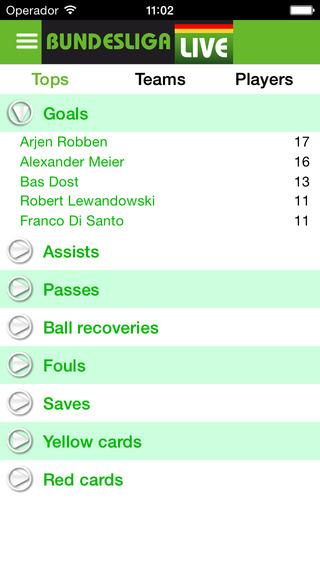 BundesLiga Live (German League) iPhone Screenshot 3