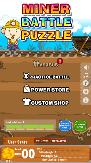 Miner Battle Puzzle : match3 multiplayer mode free game