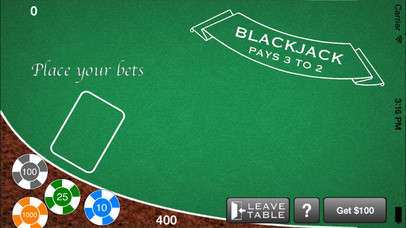 Screenshot 2 AAA Blackjack– Бесплатный игорный симулятор казино Блэкджек 21