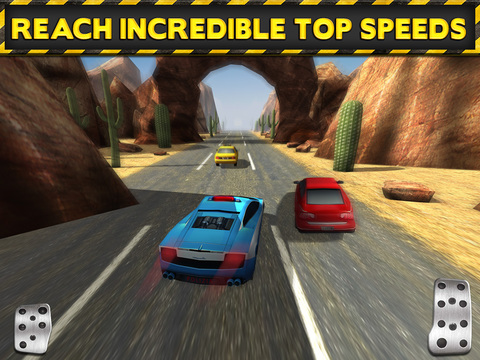 Screenshots of 3D Police Drag Racing Driving Simulator Game: Race The Real Turbo Chase for iPad