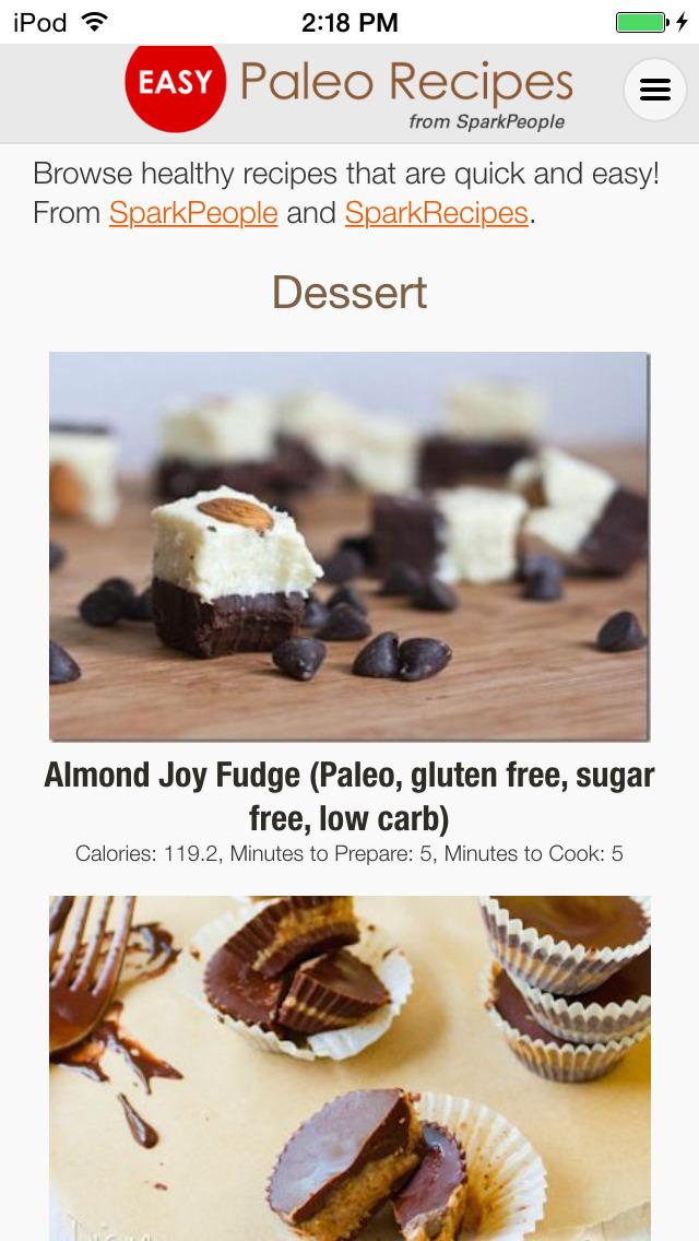 Easy Paleo Recipes from SparkPeople Приложения для iPhone и