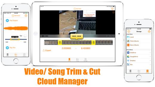 TRIM CUT FREE - Editor Cutter Record Backup Files