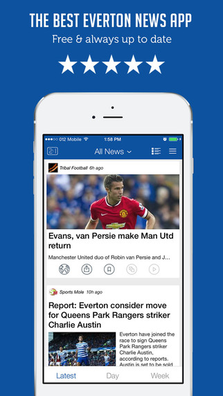 Everton FC Unofficial News - Live Scores Transfers Rumours - Sportfusion