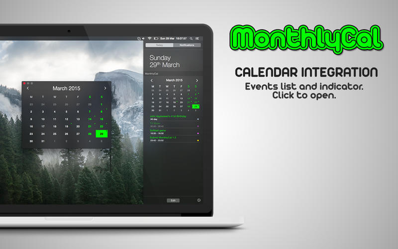 MonthlyCal Screenshot - 2