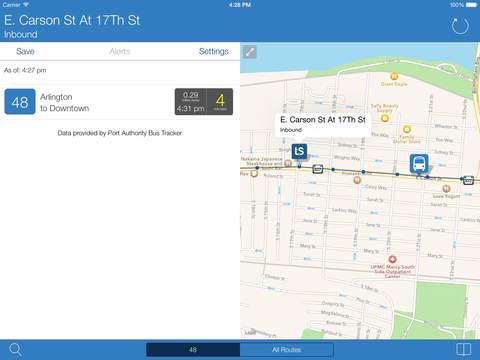 Transit stop pittsburgh port authority tracker app app - Port authority bus schedule ...