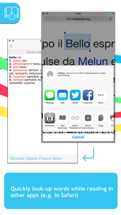 French <-> Italian Talking SlovoEd Classic Dictionary iPhone Screenshot 3