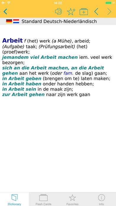 Dutch <-> German Dictionary Langenscheidt Standard iPhone Screenshot 5