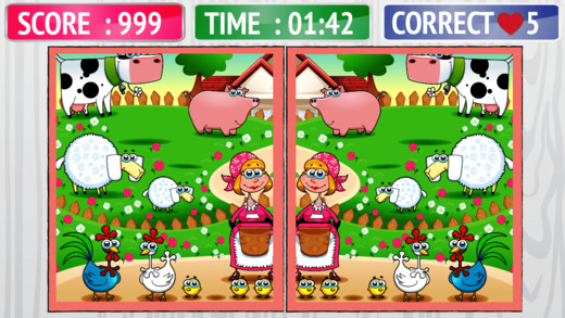 Nature and Animals Differences Game