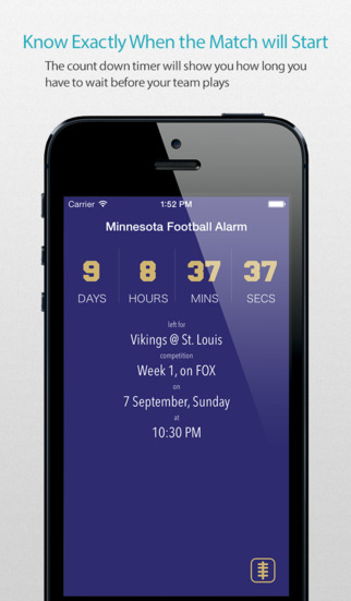 Minnesota Football Alarm