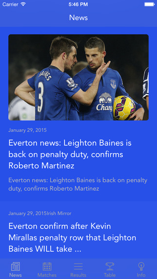 Team Everton — News results fixtures and stats about you favorite team