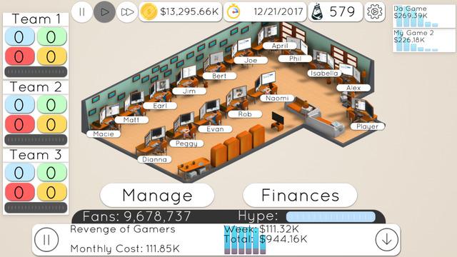 Game Studio Tycoon 2: Next Gen Developer Screenshots
