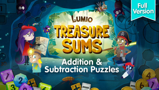 Treasure Sums - Lumio addition and subtraction math games for the Common Core classroom Full Version