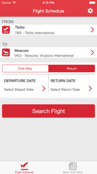 Georgian Airways official app