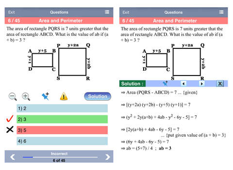 GRE Math Aptitude iPad Screenshot 2