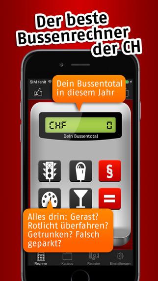 Bussenrechner Schweiz iPhone Screenshot 2