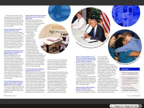 Emory Health Magazines iPad Screenshot 4