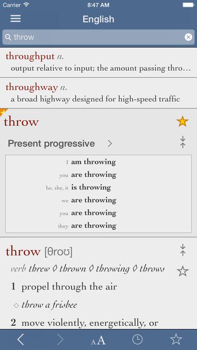 English Dictionary & Thesaurus by Ultralingua iPhone Screenshot 2