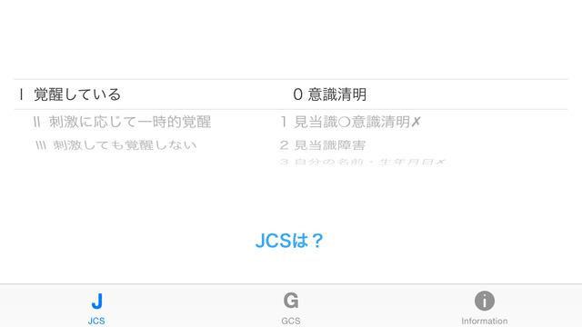 JCS GCS - 救急医療の意識障害レベル判定 -