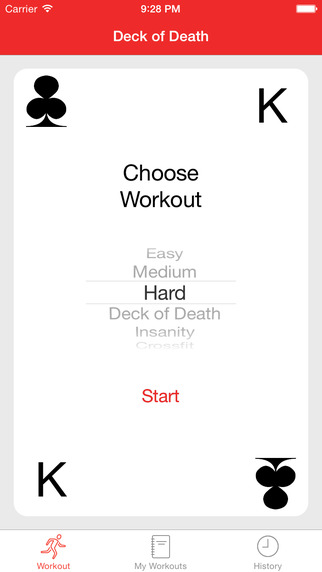 Deck of Death Workout