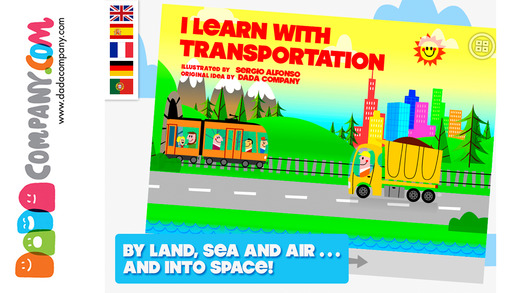 I learn with transportation: Sounds words colors shapes numbers languages and more ...
