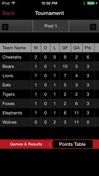 Tournament App iPhone Screenshot 4