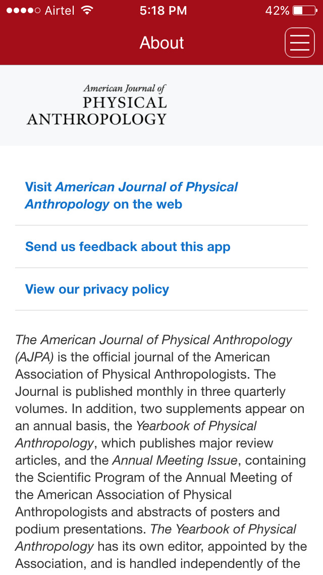 american journal of physical anthropology style guide