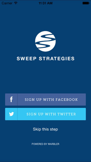 Sweep Strategies