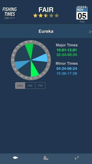 Fishing Times Lite iPhone Screenshot 1