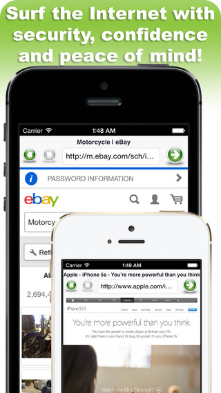 Secure Web Browser Lite iPhone Screenshot 5