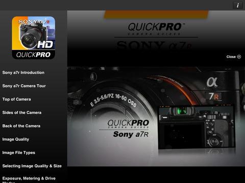 Inside the Sony V1/FX7 iPad Screenshot 2