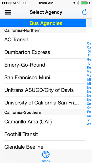 NextBus Real Time Text Map Pro