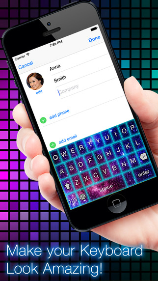 Glow Keyboard FREE - Customize Theme Your Keyboards