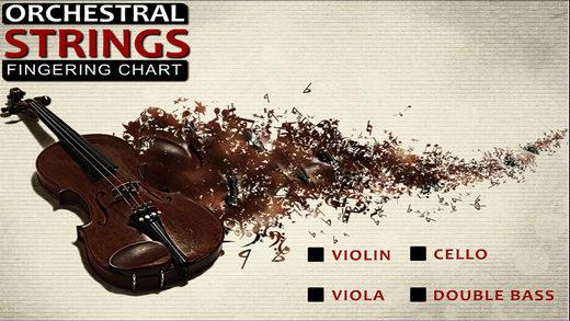 Orchestral Strings Fingering Chart Violin Viola Cello String – Violin Fingering Chart
