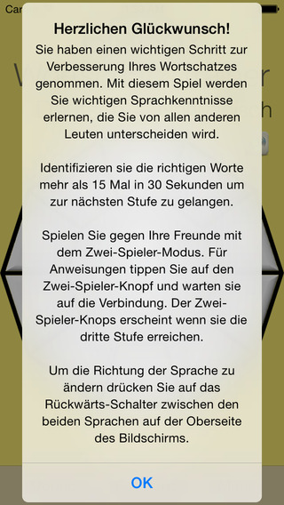 Vocabulary Trainer: German - Russian iPhone Screenshot 5